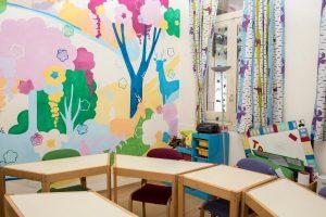 TANDEM Madrid, children's classroom detail