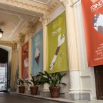 TANDEM Madrid, main entrance, banners