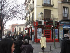 Typical Street in Madrid
