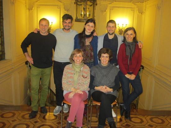 Andrea y Samuele con el equipo TANDEM